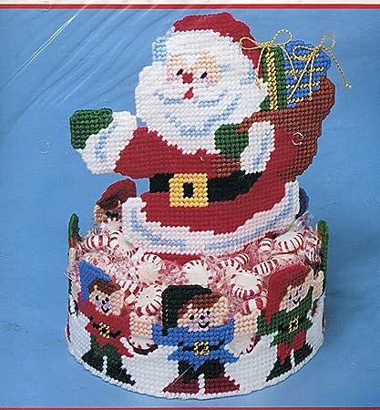 Bucilla Plastic Canvas Needlepoint Kit ~ Set of Six House Ornaments