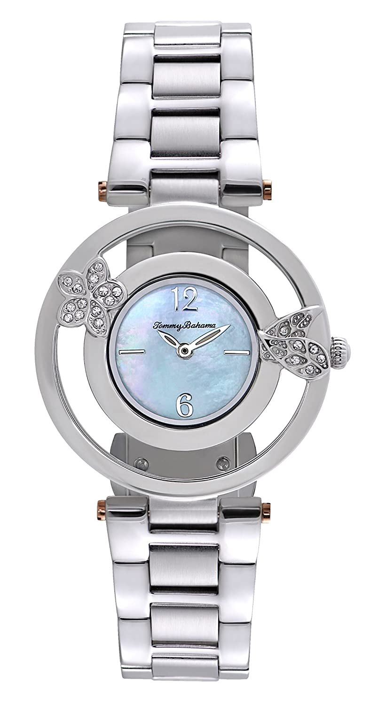 Tommy Bahama TB4049 Frauen-Edelstahl-Armband blaue Zifferblatt runde Uhr