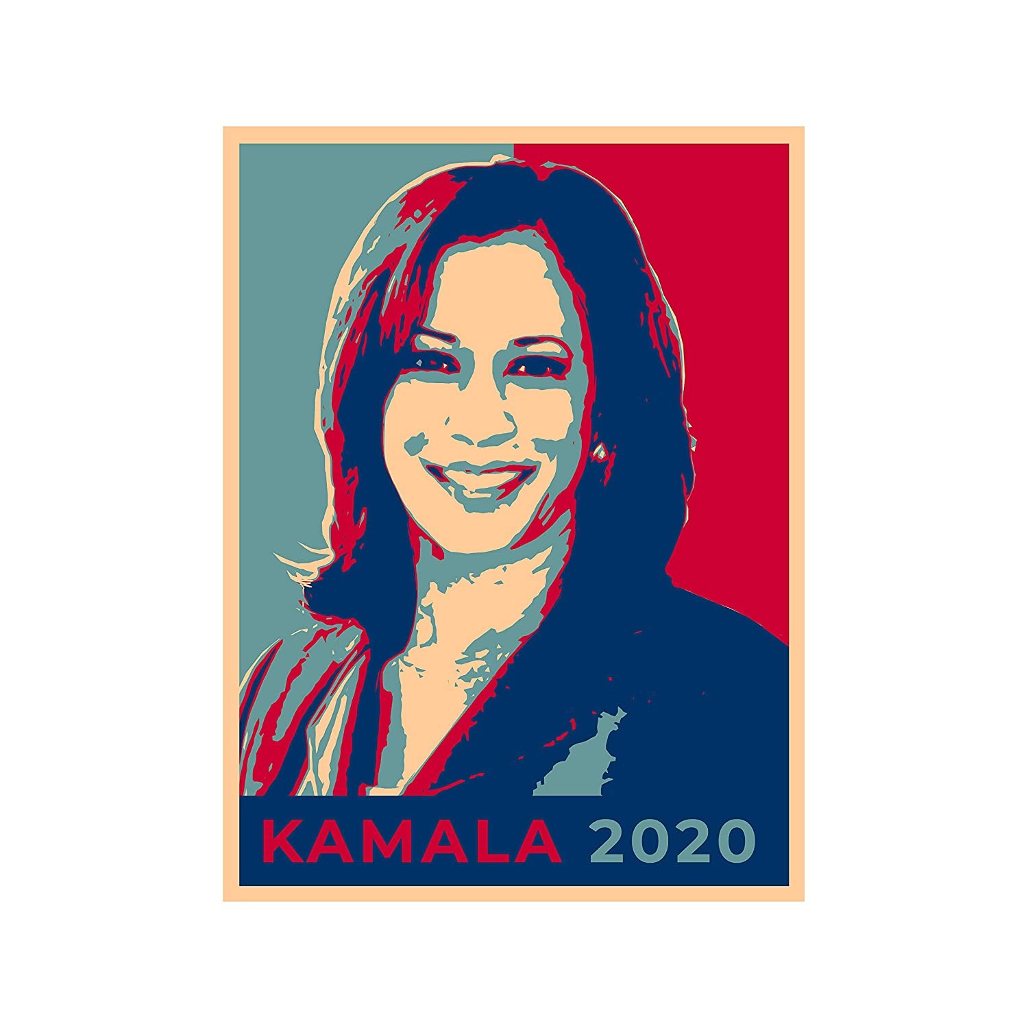 4 inches Tall United States USA President Presidential Election Voting 2020 Marianne Williamson Democratic Party White House Candidates Die Cut Vinyl Sticker Williamson