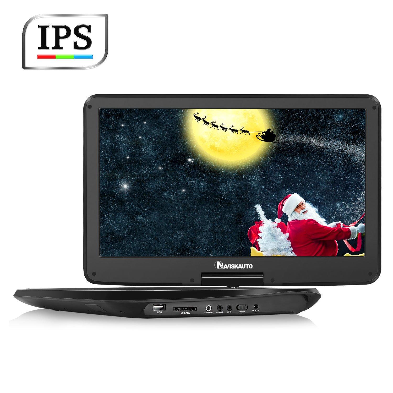 NAVISKAUTO 15.6 inch HD Portable DVD Player with Wide IPS LCD Screen by NaviSkauto