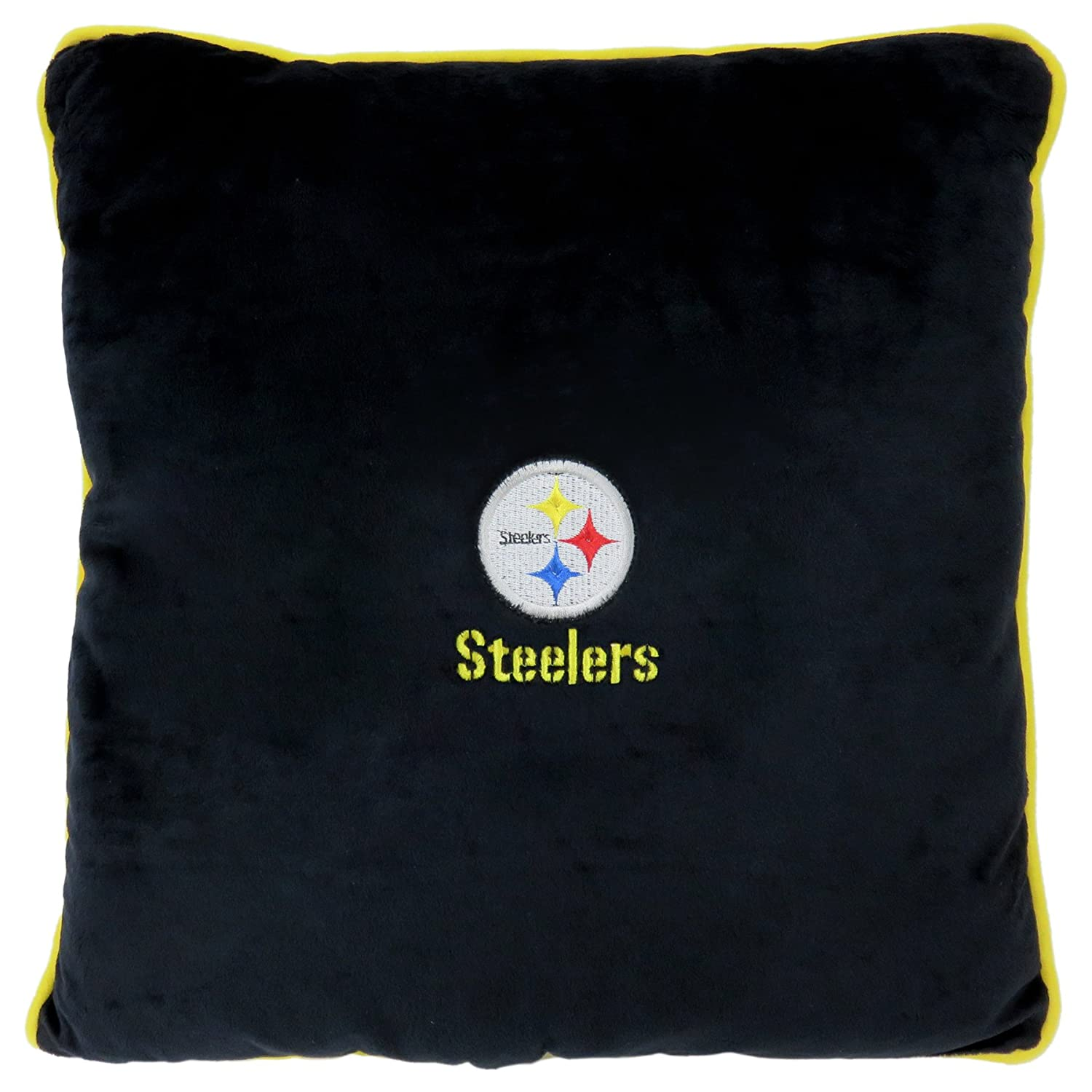 NFL PITTSBURGH STEELERS  Soft & Cozy  Dog Pillow. Plush & Comfortable Pet Pillow