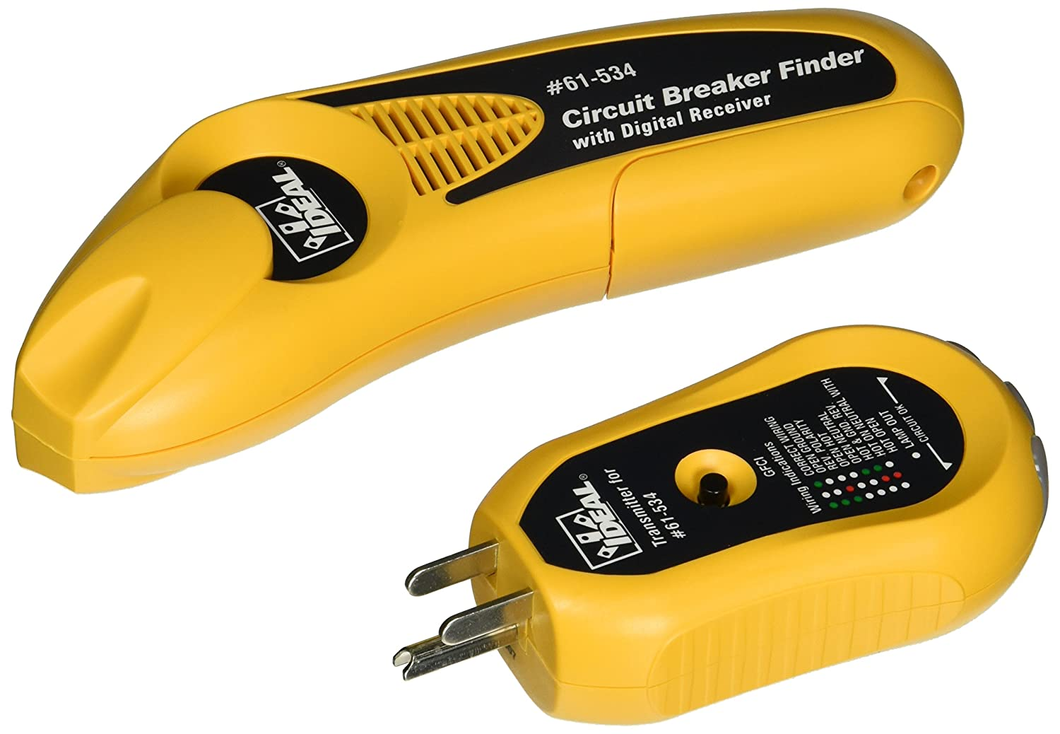 IDEAL 61-534 Digital Circuit Breaker Finder with Digital Receiver and GFCI Circuit Tester