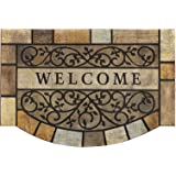 """MTOUOCK Durable Door Mats, 23""""x35"""" Inches Heavy-Duty Welcome Mat for Front Door with Non-Slip Rubber Backing, Commercial Outs"""