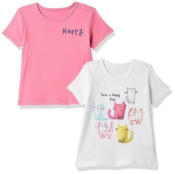 Mothercare Baby Girls  Animal Print Regular Fit T-Shirt (Pack of 2 ... caca4c8c7