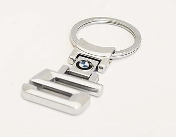 BMW 5 Series Llavero de metal cromado Luxury llavero: Amazon ...