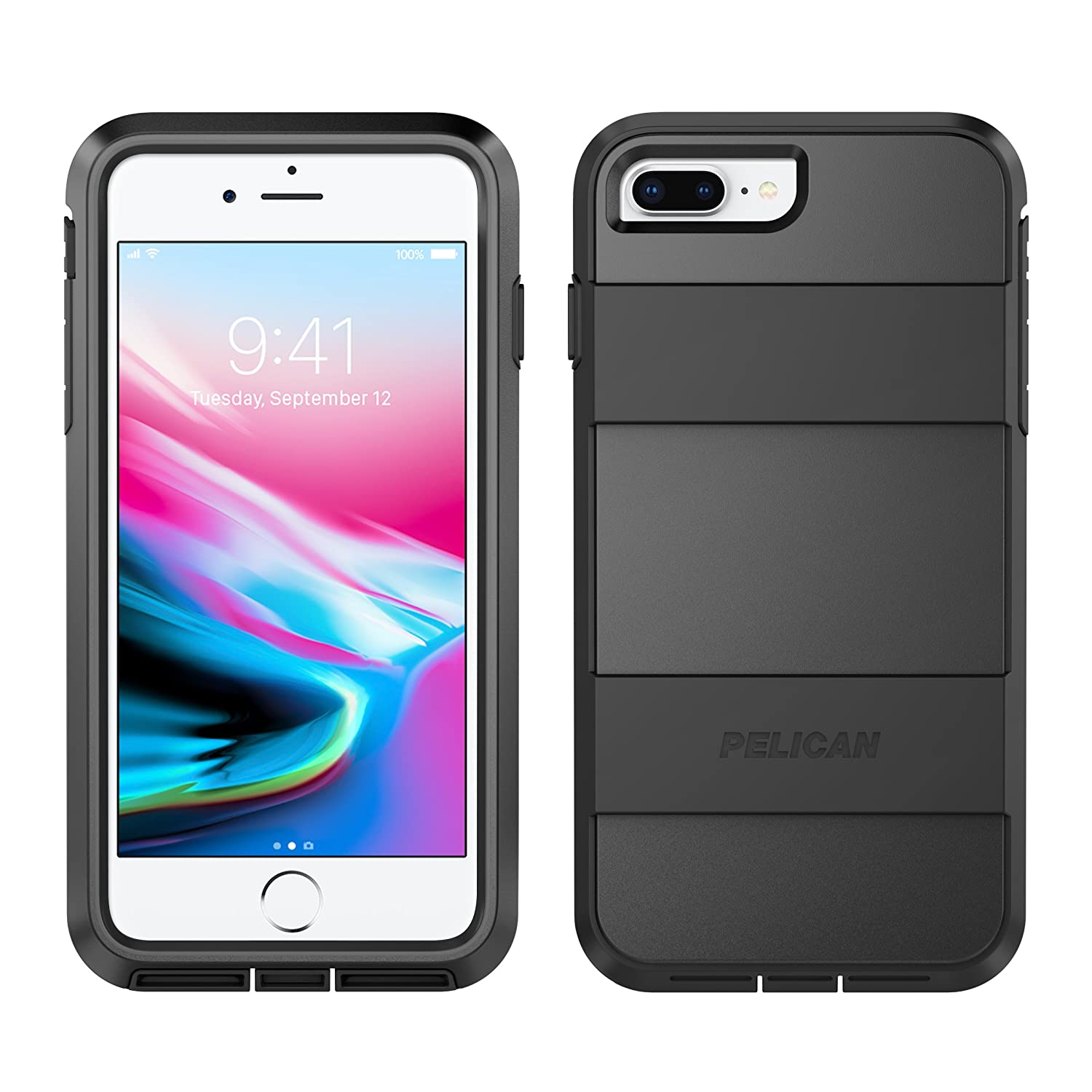 classic fit 4f287 85b4a iPhone 8 Case | Pelican Voyager Case - fits iPhone 6s/7/8 (Black)