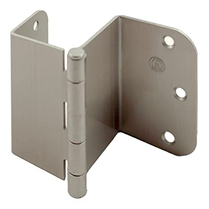 Stone Harbor Hardware, 3.5 Inch Swing Clear Offset Door Hinge (Satin Nickel)