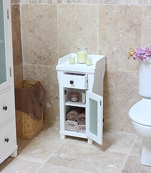 baumhaus hampton closed small bathroom storage unit with cupboard rh amazon co uk small bathroom cabinets ikea small bathroom cabinet sink