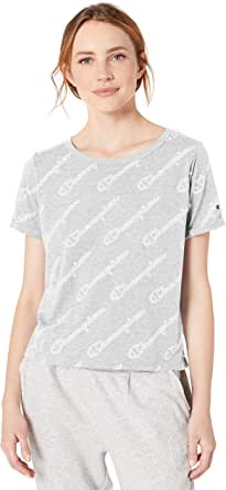 Champion Womens Unisex-Adult W4547P Vintage Dye All-Over Print Heritage Tee Short Sleeve T-Shirt