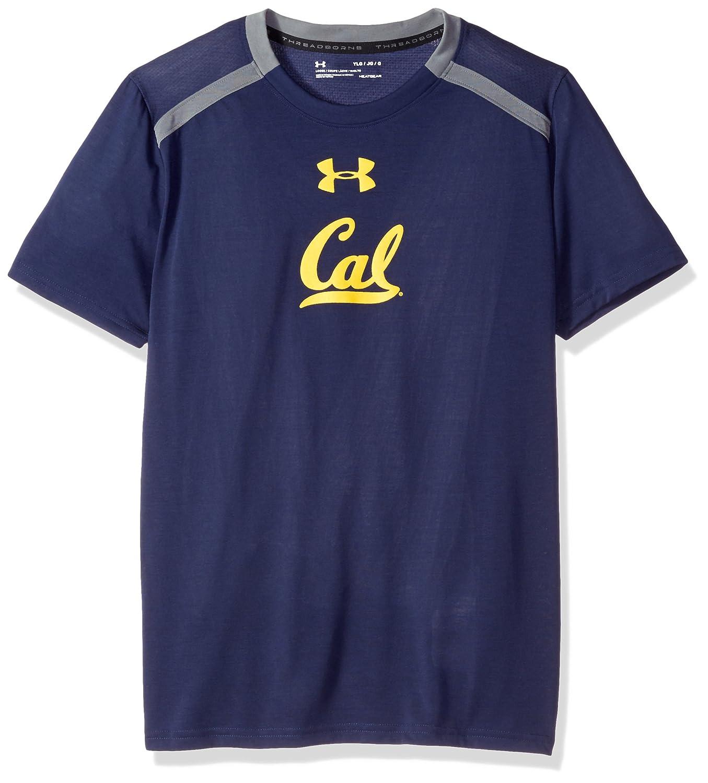 Navy Under Armour NCAA California Golden Bears Teen-Boys NCAA Boys Short Sleeve Vented Tee X-Small