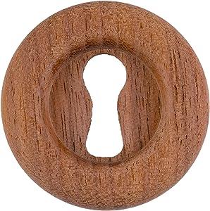 Large Walnut Decorative Keyhole Cover | Diameter: 1 1/4