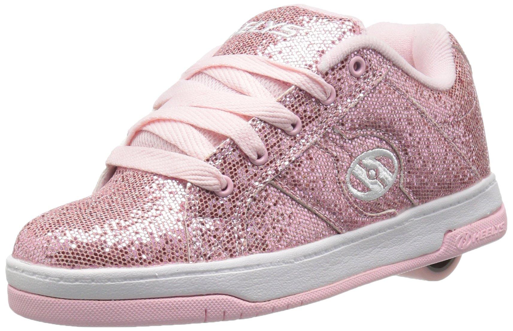 Heelys Split Sneaker Light Pink Disco Glitter 8 M US Big Kid