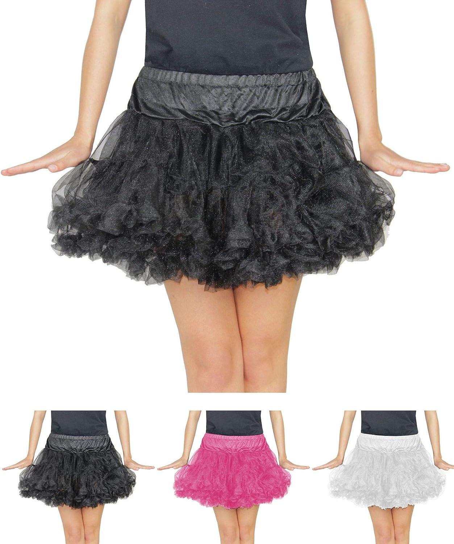 Foxxeo Tutú para disfraz, estilo rockero años 50, color negro ...