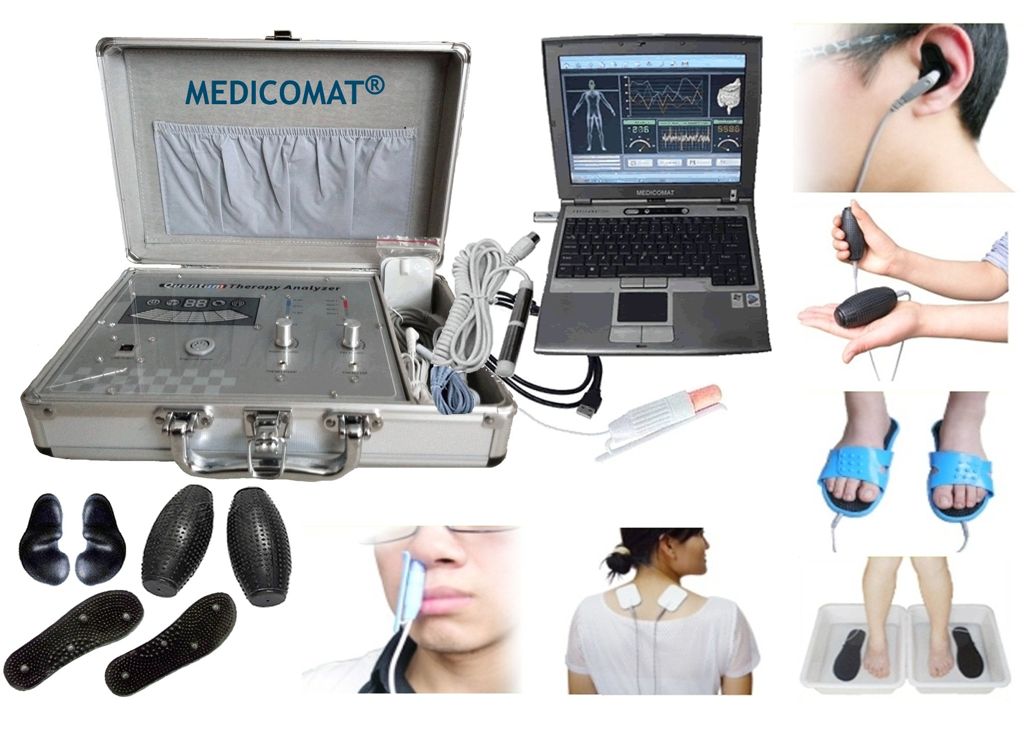 Laser Acupuncture Treatment Medicomat Laser Therapy and Health Analysis Computer System Accessories