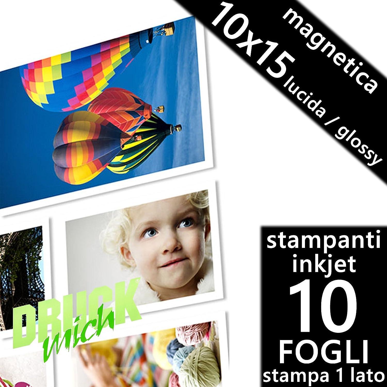 Paquete de 10 hojas de papel fotográfico magnético 10 x 15 ...