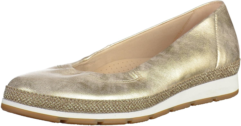 Gabor Femme Shoes Comfort, Ballerines Femme Gabor 42 EU|Argent (Platino Glamour) fb24e5