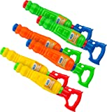 Kids Water Guns Super Soakers 6 Pack |Assorted BPA Free Plastic Multicolor Water Cannon Blasters Beach Toy | Swimming Pool | Bath Tub | Backyards | Camping | BBQ - Outdoor | Indoor