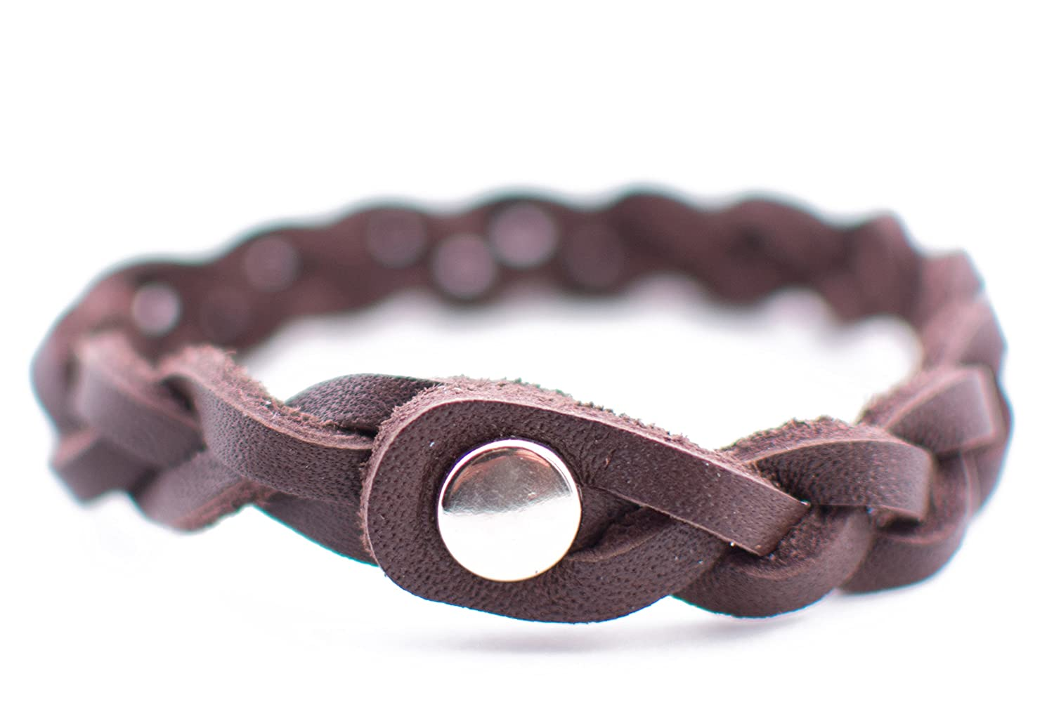 The Oil Lab Braided Leather Diffuser Bracelet by The Oil Lab