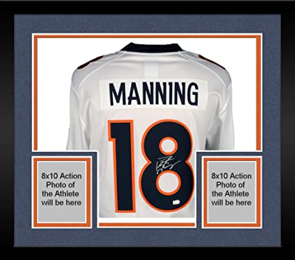 Framed Peyton Manning Denver Broncos Autographed White Nike Limited Jersey  - Fanatics Authentic Certified a1e1793a4