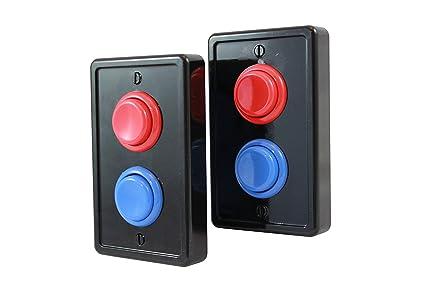 Amazoncom Arcade Light Switch Plate Single Switch 2 Pack Black