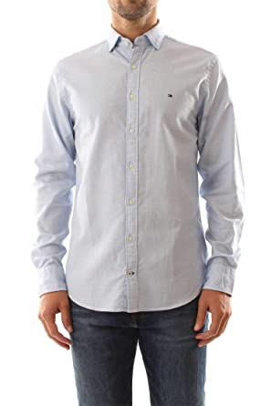 bb8dd7e8 Tommy Hilfiger MW0MW08960 Twisted Yarn Dobby Shirt Men: Amazon.co.uk:  Clothing