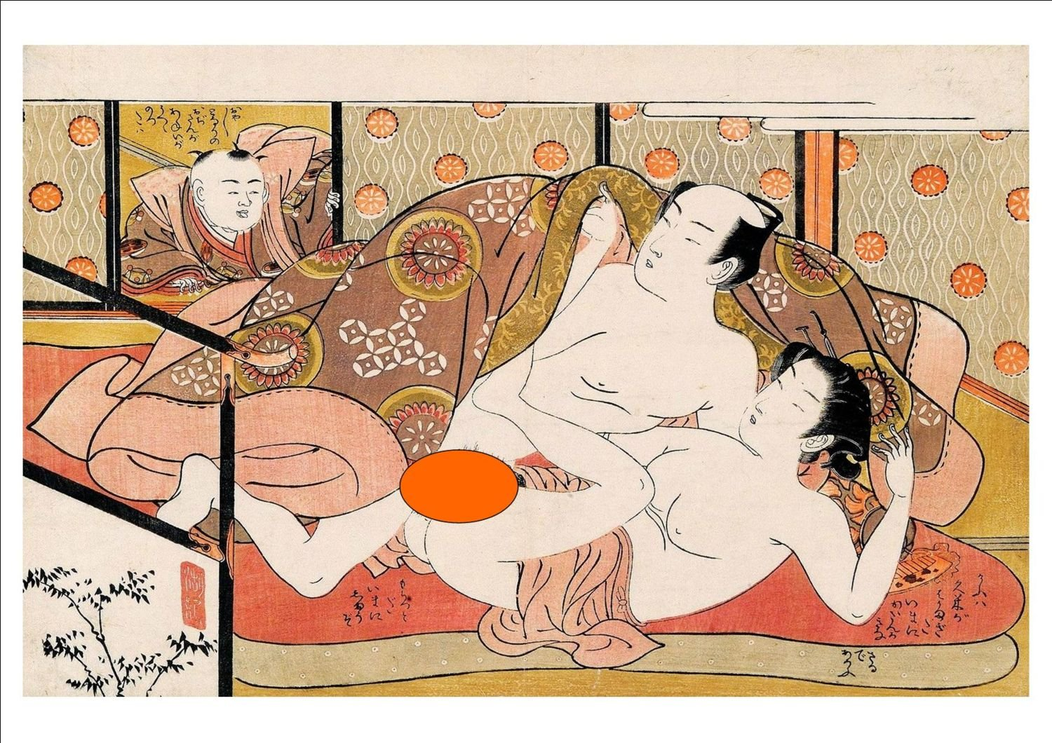 Vintage 'Shunga' Erotic Japanese Art Print (39) - Sexually Explicit A4  Glossy Print Cards – 2014