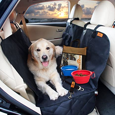 Medium image of waterproof pet back seat protector cover for car suv  u0026 track 4 bonus non