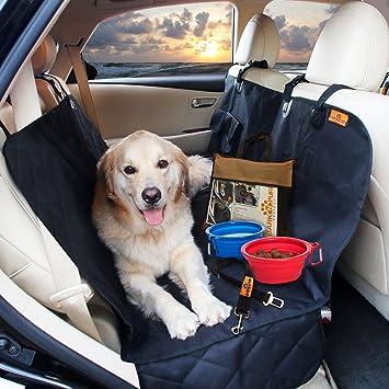 Waterproof Pet Back Seat Protector Cover For Car SUV Track 4 BONUS Non