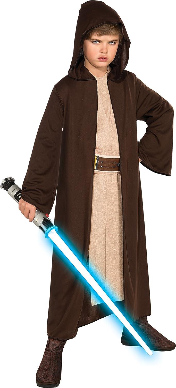 Rubies Star Wars Classic Childs Hooded Jedi Robe, Medium
