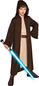 Rubies Star Wars Classic Child's Hooded Jedi Robe, Large
