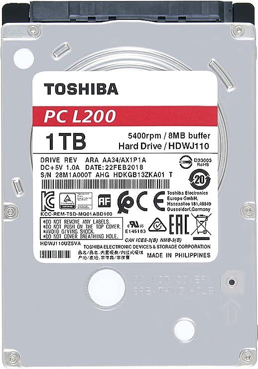 Toshiba L200 - Disco Duro Interno de 1 TB (6,4 cm (2,5