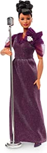 Barbie Inspiring Women Series Ella Fitzgerald Collectible Doll, Approx. 12-in, Wearing Purple Gown, with Microphone, Doll Stand and Certificate of Authenticity