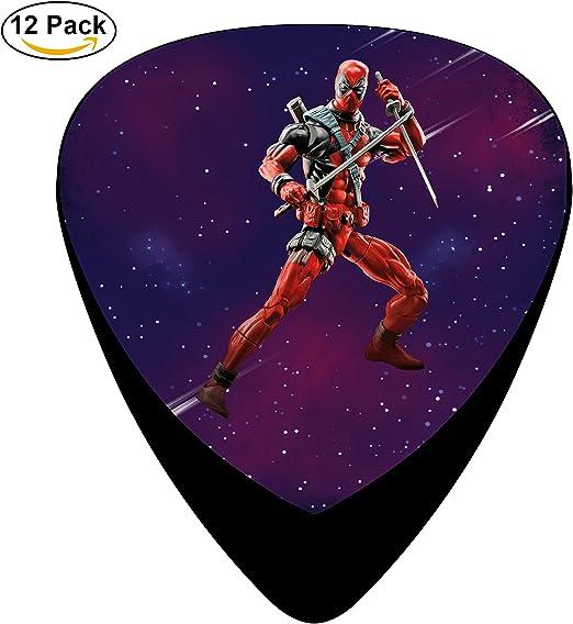 marvel-deadpool 12 unidades púas para guitarra celuloide (Púas 0,46 mm/0,71 mm/0.96 mm para adultos (talla & kidls para guitarra instrumentos musicales: Amazon.es: Amazon.es
