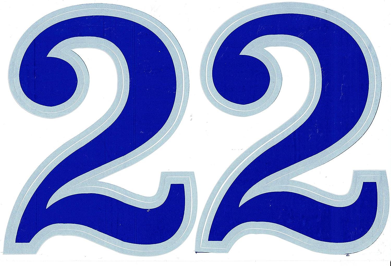 voiture,Moto,Planche /à roulettes,v/élo,Bagages,Iphone-Decal Graffiti-/étanche Num/éro 2 bleu 165 mm haut Sticker feuille 27 x 18 cm Autocollants Voiture et Moto Series Vinyle pour Ordinateur Portable