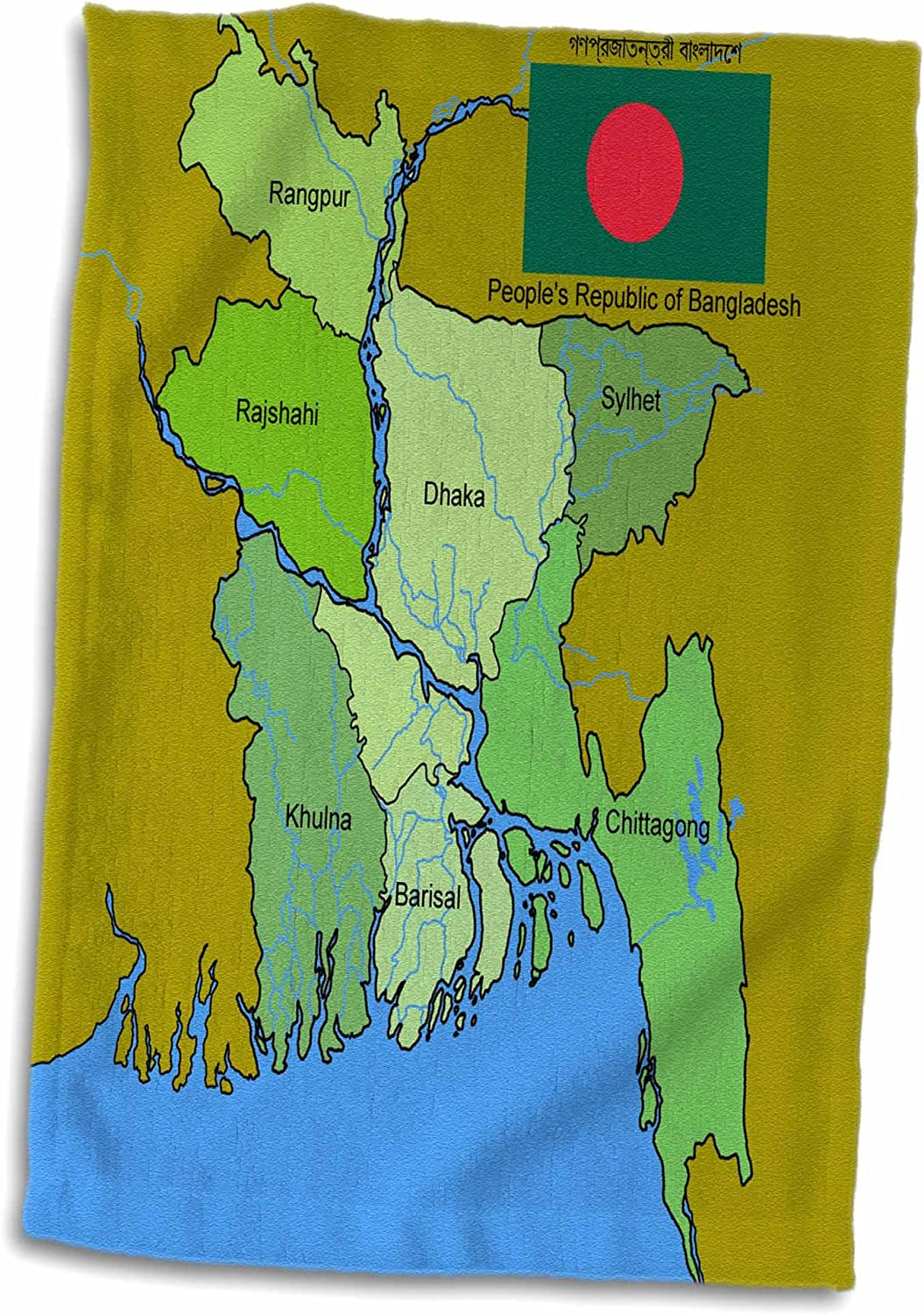Amazon 3D Rose Map And Flag Of Bangladesh With Each