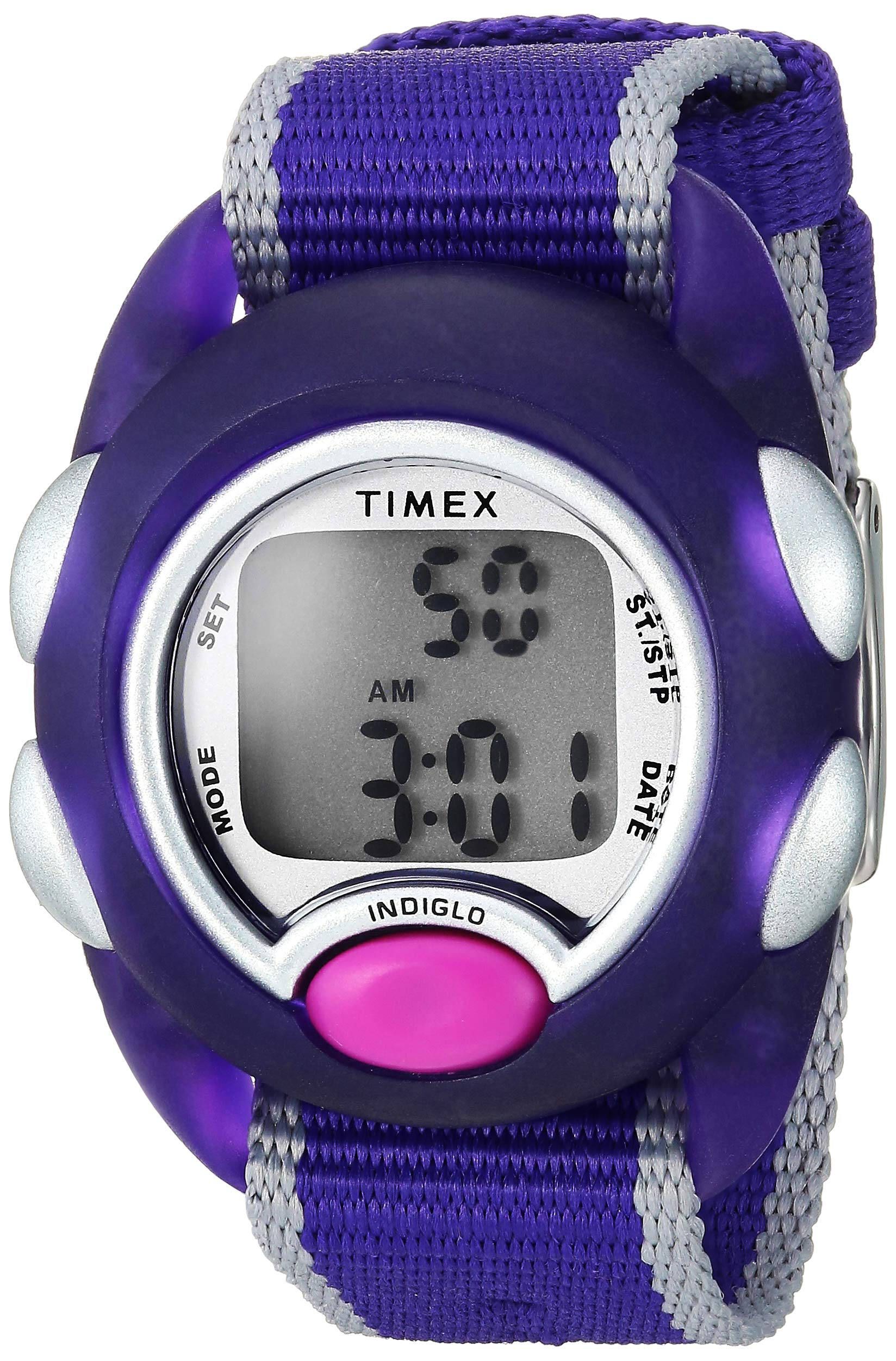 Timex Girls TW2R99100 Time Machines Digital Purple Fabric Strap Watch by Timex
