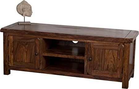 Classically Modern Jali Solid Rosewood Sheesham Plasma Tv Bench Unit Stand Cabinet