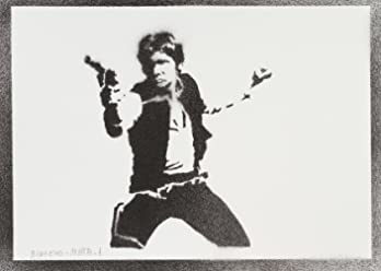 Han Solo STAR WARS Poster Handmade Graffiti Street Art - Artwork