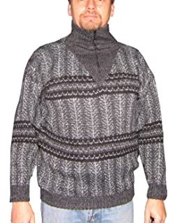 Fubotevic Men Solid Knitted Autumn Winter Turtleneck Pullover Sweater