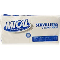 Mical Servilletas, Color Blanco, 2 Capas, 30 x