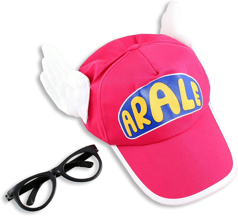 Dr, Slump Arale de alas Rosa carcasa disfraz de Gorro + gafas ...