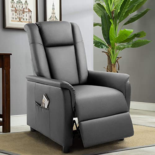 Pretzi Adjustable Recliner Chair Leather Single Reclining Sofa Review