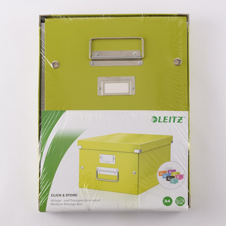 Leitz 6045 Click /& Store und Transportbox mit Deckel f/ür A3 Gro/ße Aufbewahrungs 2er Pack, Wei/ß