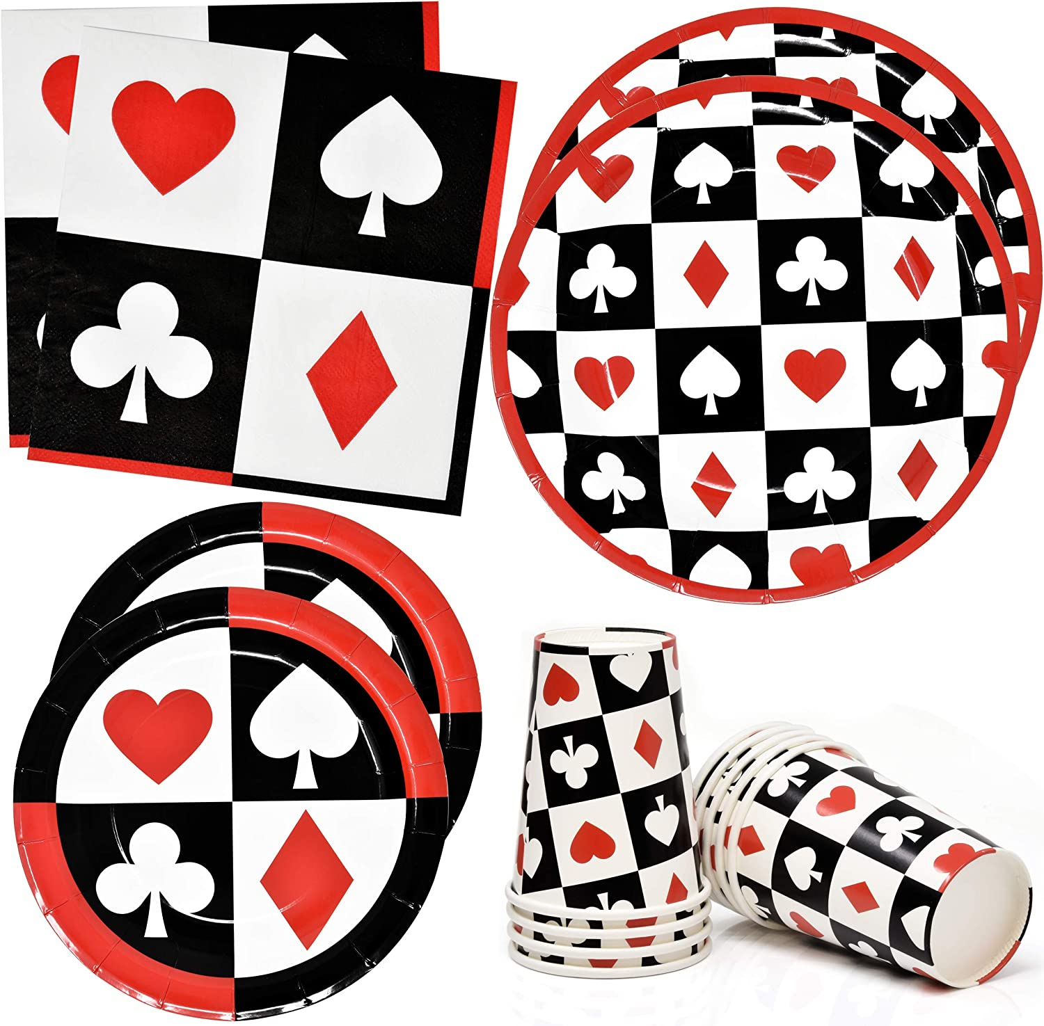 Casino Night Poker Game Party Supplies Tableware Set 24 9