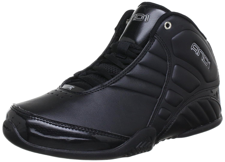 AND1 Men's Rocket 3.0 Mid Basketball Shoe B009POTQQG 9 M US/8 M UK|Black/Black/Silver