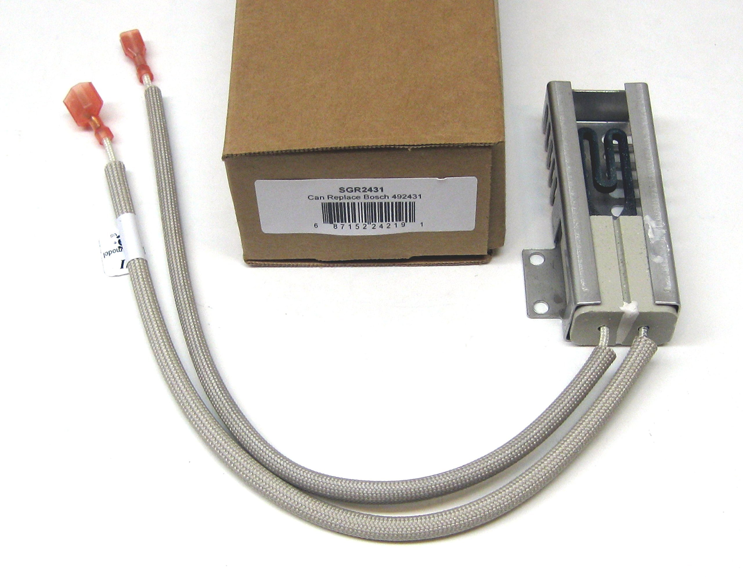 Supco SGR2431 Range Oven Igniter Replaces 00492431, AP3674290, 1107469, 20-01-500, 487383, 492431, 610098, 3472541, EA3472541, PS3472541, PS8722793