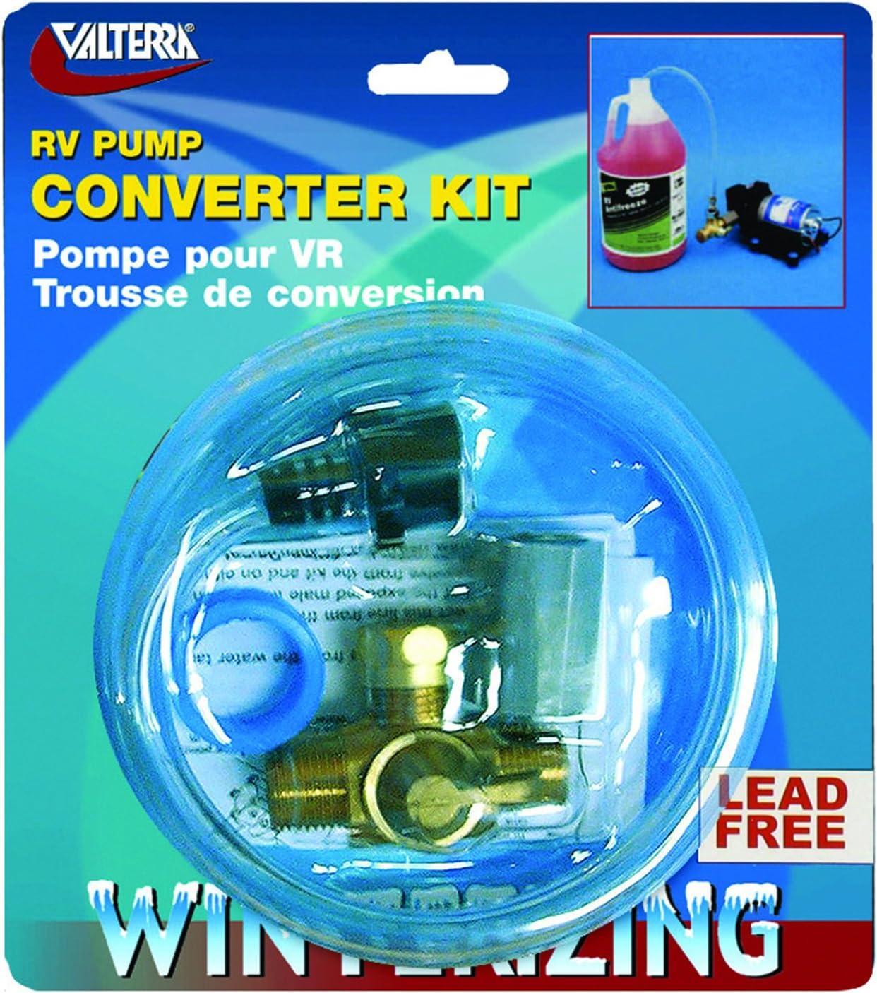 RV Pump Converter Winterizing Kit Water Pipe Set Cleaning Hose Valve Siphon