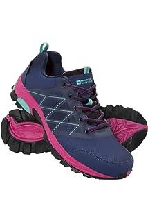 Mountain Warehouse Boost Laufschuhe für Damen - Strapazierfähig, Atmungsaktiv, Sommerschuhe, Obermaterial Synthetik, Wanderschuhe, Netzfutter - Ideal für Reisen Grau 40 EU