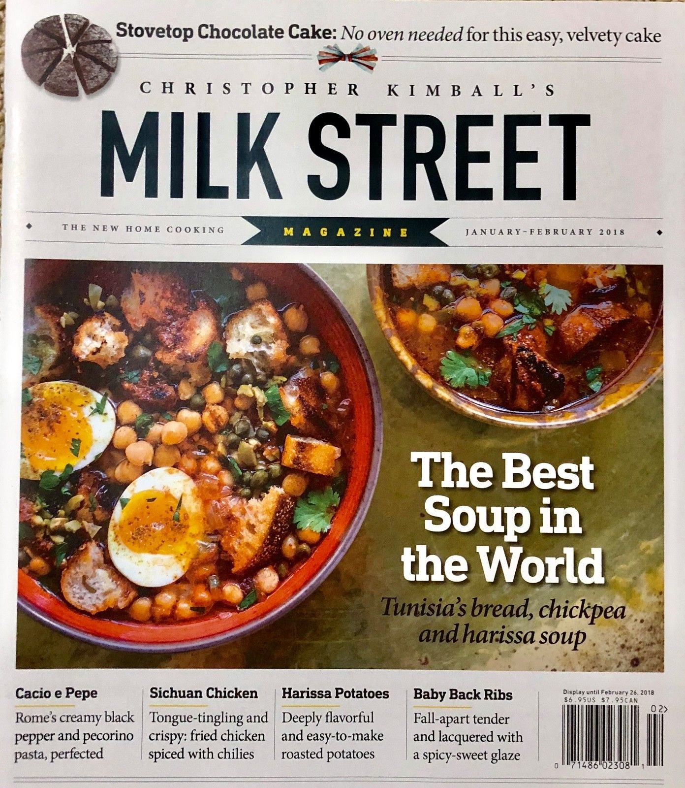 Milk Street The New Home Cooking JAN/FEB 2018