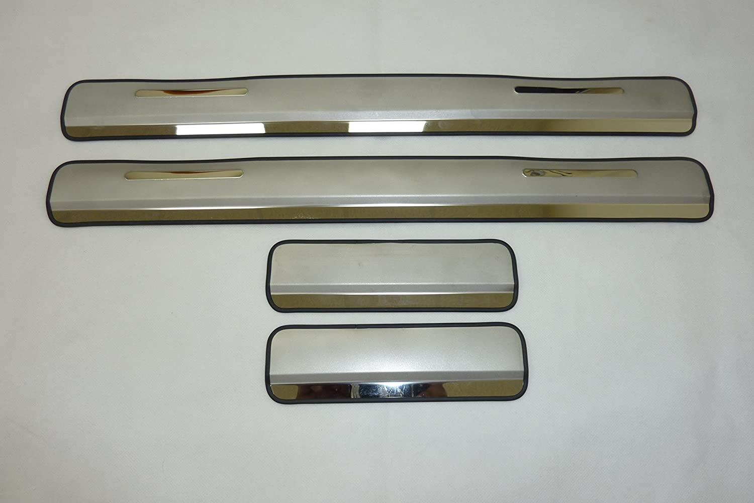 Chrome Door Sill Covers Protectors x 4 Brand New
